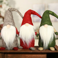 Christmas Doll Decoration Faceless Gnome Santa Claus Xmas Tree Hanging Ornament