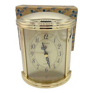 "Vintage Seiko Quartz  Alarm Desk Clock - QEJ 226G NOB 5.5"" X 4"""