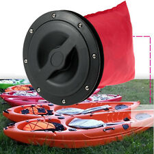 "durable 6"" Marine Boat Kayak Hatch Cover Deck Plate Kit Storage Bag + 8 screws"