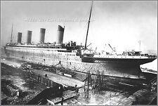 Photo: Premium View: Titanic At The Thompson Drydock, Belfast, Early 1912