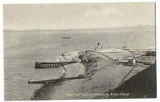 More details for old postcard pier & lighthouse ailsa craig scottish island vintage c.1920
