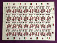 ITALIA 1992  FOGLIO MILAN  CAMPIONE D'ITALIA 1991-92  NUOVO MNH** RARO