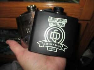 2 5 oz PAIR OF SQUARE Alcohol Liquor Flask Made of Stainless Steel BLACK SILVER