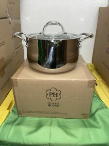 Princess House Heritage Tri-Ply Stainless Steel 6-Qt. Straining Casserole (5743)