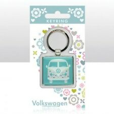 VW Campervan Epoxy Keyring Flower Power Officially Licensed