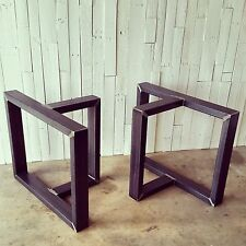 DIY T-Shaped Metal Table Legs Base Unfinished RAW Handmade