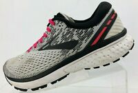 Brooks Ghost 11 Running Shoes Black Grey Training Athletic Sneakers Womens 9.5 B