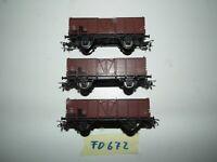 Piko 3 Hochbordwagen  Güterwagen  H0 a.f. für Piko  Roco Fleischmann FD672
