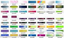 BANNER TEMPLATES V1 - 300 Webseite Banner Vorlagen Header Website Neu E-LIZENZ