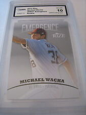 MICHAEL WACHA CARDINALS 2012 LEAF RIZE EMERGENCE ROOKIE RC # EM21 GRADED 10