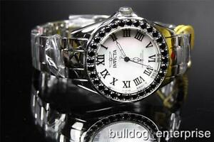 Womens Invicta 14106 Angel White MOP LE Black Spinal Limited Edition Watch New
