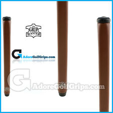 The Grip Master Montana Cow Leather Stitchback Pistol Putter Grips - Brown