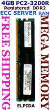 ELPIDA 4GB DDR2 PC2-3200R ECC Registered SERVER Memory 1x 4GB Memory @ Syd