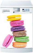 Sticker lave vaisselle déco cuisine électroménager Macarons réf 553 60x60cm