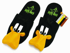 Daffy Duck Black Slippers Shoes NWT Looney Tunes US 6-10, UK 4-8, EU 36-42