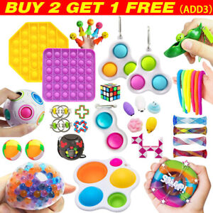 10-27Pack Fidget Toy Set Sensory Stress Relief Toys Push Pop Bubble Toy for Kids