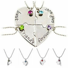 Hot Sale Puzzle Love Heart Friendship Necklace Best Friends Forever And Ever NL