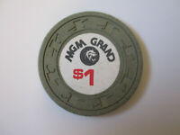 vintage MGM Grand Casino Las Vegas Nevada $1 Dollar Poker Chip