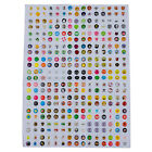 300Pcs Cartoon Rubber Home Button Sticker Decal for iPhone 4 4S 5 iPad New