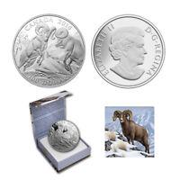 2014 $100 CANADA BIGHORN SHEEP, FINE .9999 SILVER COIN (OGP/COA)