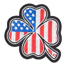 American Flag Four Leaf Clover Patch, US Flag Patches