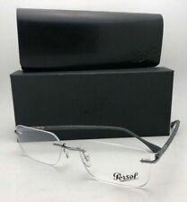 New PERSOL Rx-able Eyeglasses 2429-V 1039 55-17 140 Rimless Gunmetal Grey Frame