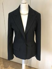 Navy Blue Pinstripe Kookai Suit Jacket s10 Matching Trousers Available