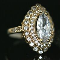 925 Sterling Silver Handmade Gemstone Turkish Zircon Ladies Ring Size 6,7,8,9