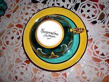 déjeuner ancien et  tasse sous tasse faïence peinte décor  rocamadour desvres !