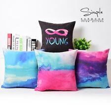 "Abstract Water Color Cloud Cotton Linen Pillow Case Home Decor Cushion Cover 18"""