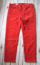 "Gap Pants Women 27 4 R Sexy Boyfriend 1969 Corduroy Cord 27"" Inseam Coral Spring"