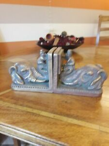 Vintage Elephant and Monkey Book Ends, very unusual.