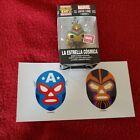Funko Pocket Pop  La Estrella Cosmica Collector Corps Captain Marvel W/ STICKERS