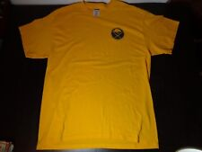 Buffalo Sabres Hockey T-Shirt Yellow with Blue Vintage Logo Adult XL Pre-owned