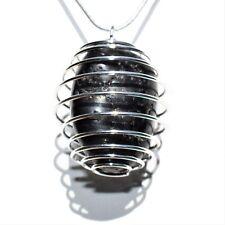 "CHARGED Brazilian Black Tourmaline Crystal Perfect Pendant™ + 20"" Silver Chain"