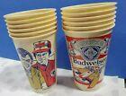 12  vintage BUD drinking cups Miss Budweiser Racing Team boat - Dean Chenoweth