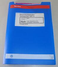 MANUALE OFFICINA VW TRANSPORTER BUS T4 Benzina 1996-1999 Servizio di Riparazione