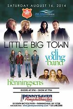 LITTLE BIG TOWN / ELI YOUNG BAND 2014 NEW YORK CONCERT TOUR POSTER-Country Music