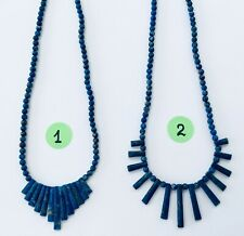 NEW Natural Lapis Necklace Fashion Jewelry - Choose From 2 Difference Styles