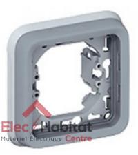 Support plaque 1 poste gris Plexo Legrand 69681