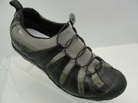 Merrell Women's Black/Gray Leather Mesch Slip On Loafers Shoes Size 7M