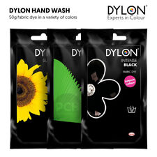 Dylon Hand Wash Fabric Dye Colour for Jeans Clothes and Textiles 50g Sachets