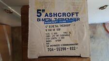 "Ashcroft 5"" Bi-Metal Thermometer 0 - 250F 7GA-55390-022"