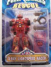 Power Rangers Lightspeed Rescue X-RAY Red Robo Racer New  5 inch 1999