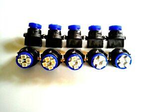 Fits Buick 10 Blue 4 LED Dashboard Instrument Panel Indicator Light Bulb Socket