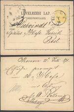 Hungary 1871 - Postal Stationery to Budapest D205