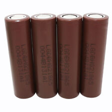 4X 18650 INR 3000mAh High Drain Li-ion Rechargeable Battery Flat Top for Vape