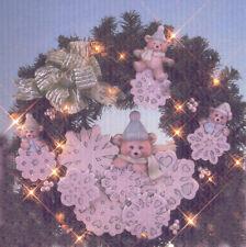 Ceramic Bisque Dona's Snowflake Bears For Wreath U-Paint Unpainted Bears