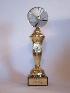 "Sport-Pokal ""Badminton"" mit Wunschgravur"