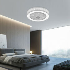 Ceiling Fan Light 3 Speed Remote Control LED Dimmable Lamp Modern Flower Style